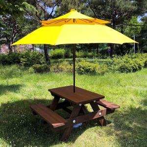 테이블나라 4인용 야외용 테이블 친환경 방부목