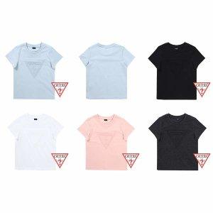 (현대백화점)게스키즈 G84KDT061  엠보삼각 패밀리 티셔츠 GUESS KIDS