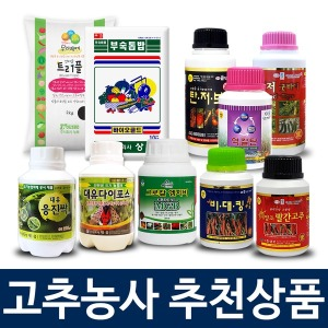 고추 텃밭 거름 비료 영양제 살균제 살충제 탄저병