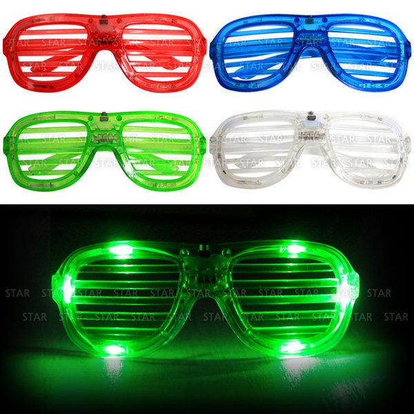 LED셔터쉐이드안경 이벤트 파티 조명 안경 연극 소품