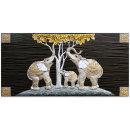 인테리어 벽걸이 장식 그림액자 돈나무가족코끼리(대)