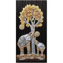 인테리어 부조장식 벽걸이 그림액자 돈나무코끼리(대)