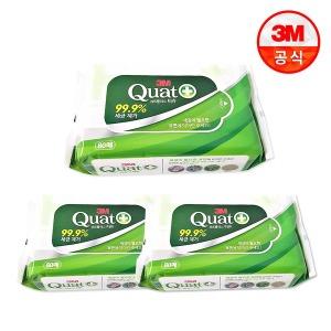 쿼트플러스 살균 물티슈(80매x3팩) /티슈로 살균소독
