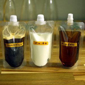 스파우트 파우치 음료팩 치어팩 육수 음료