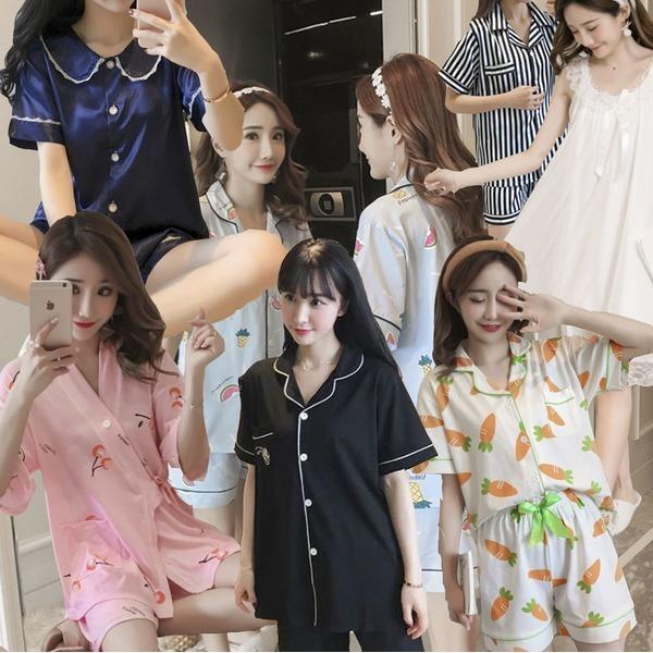 여성잠옷/파자마파티/원피스잠옷/청소년단체/수유잠옷