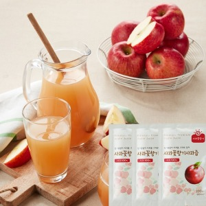 특가 사과100% 사과꽃향기 사과즙 100팩  HACCP인증