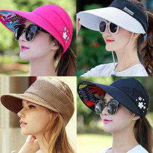 야외용 썬캡 모음/스포츠 창모자 여름 운동 모자
