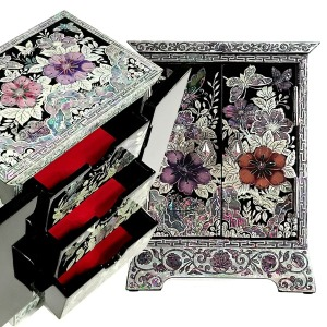쌍문 보석함 나전칠기 자개 나비 전통공예 선물