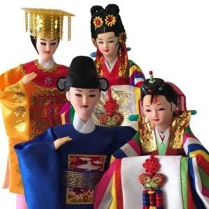 전통인형 2인(대)/신랑쌍/왕쌍/한복/외국인선물