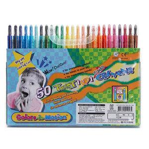 수출용 지구화학 투명이 50색 색연필 샤프식색연필