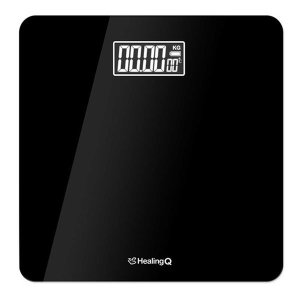 최신형 디지털 체중계-블랙 /온도측정/건전지증정