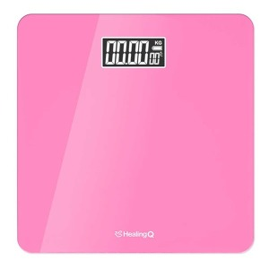 최신형 디지털 체중계-핑크 /온도측정/건전지증정
