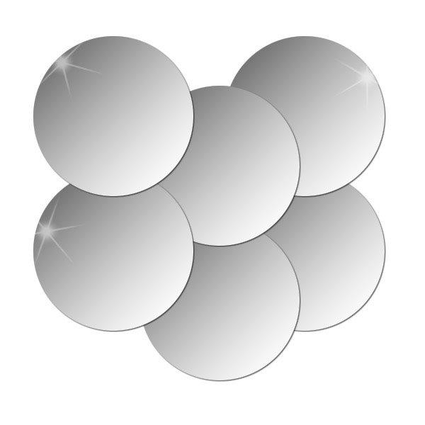 6P_인테리어 안전거울/아크릴거울/붙이는거울 (원형)