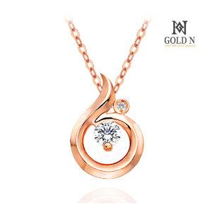 (골드앤(GoldN)) 골드앤 18K 뮤즈 1부 다이아몬드 목걸이 RG