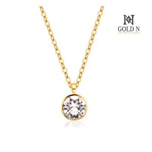 (골드앤(GoldN)) 골드앤 14K 4월 다이아몬드 트윈 탄생석 목걸이 YG