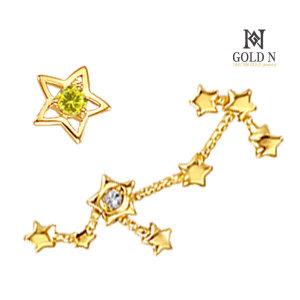 (골드앤(GoldN)) 골드앤 18K 별자리다이아귀걸이 - 사수자리+토파즈 YG