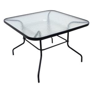야외테이블/펜션/카페 크리스탈100테이블 사각-블랙