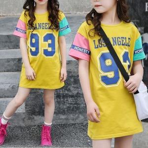 93원피스/초등학생원피스/주니어롱티셔츠/여아
