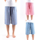 레이온파자마 여름잠옷바지 7부커플파자마 커플잠옷