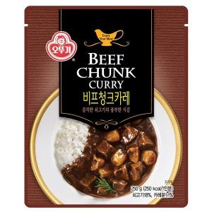 맛 그 이상의 가치- 오뚜기 비프 청크 카레 250g