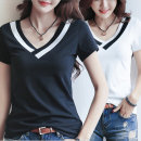 여성 V 넥 라인  반팔 티셔츠 여름 기획특가 상품
