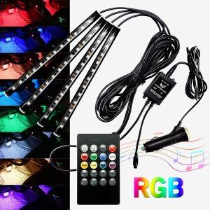 자동차 풋등 소리반응 RGB LED바 뮤직 무드등 키트
