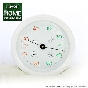 (키모스리빙)프리티 원형 온습도계 온도계 습도계