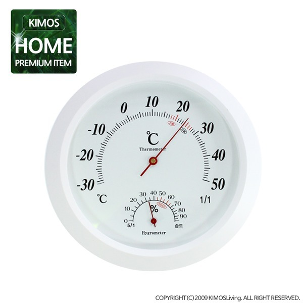(키모스리빙)심플원형 온습도계 온도계 습도계