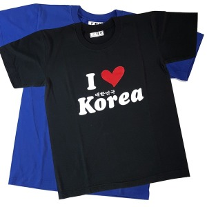 아이러브코리아 티셔츠 korea 외국인선물 기념 반팔티