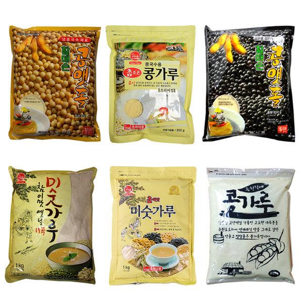 콩맷돌/검은콩/콩국수/콩가루/17곡미숫가루/소면/중면