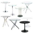 TG407US 강화 유리 원형 테이블 상담용 회의 티 탁자