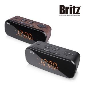브리츠 BZ-M107디지털/알람시계/FM라디오/스피커 블랙