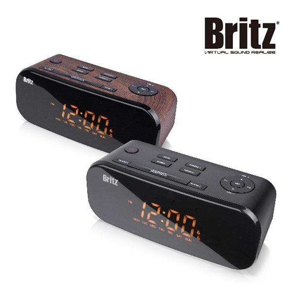 [브리츠] 브리츠 BZ-M107디지털/알람시계/FM라디오/스피커 우드