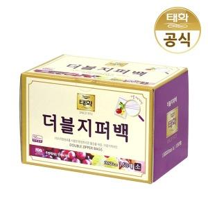 태화 더블지퍼백 150매 / 롤백 위생고무장갑 비닐봉투