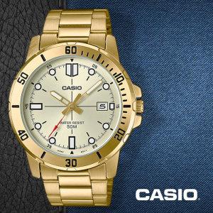 카시오  CASIO MTP-VD01G-9E 남성용 메탈밴드 패션시계
