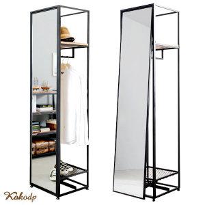 블랙 전신경 인테리어 행거 원룸 드레스룸 전신 거울