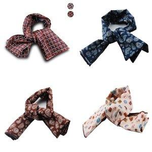 남자스카프 디자인 남성용 패션 미니 패턴 스카프넥타