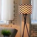 북유럽 장스탠드(블랙) + LED램프 전구색