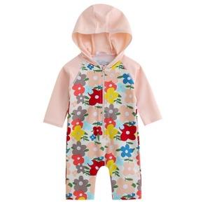 로렌핑크 베이비 수영복 어린이 유아 꽃무늬 래쉬가드