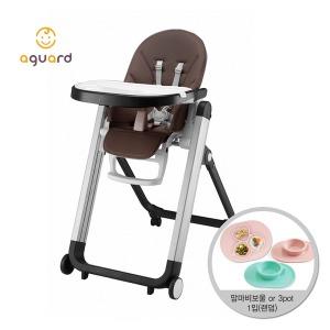 포르텐 하이체어 카카오 1입 유아 아기 식탁의자