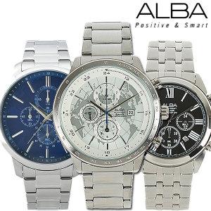 세이코 알바 정품 야광 크로노그라프 남성 손목시계