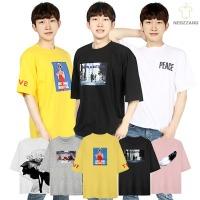 3+1 반팔티 커플 단체 남자 남성 티셔츠 여름 티