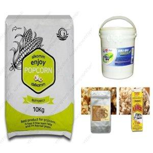 팝콘재료세트 S-4(옥수수+오일+소금+카라멜슈가 1kg)