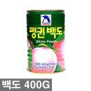 백도 복숭아 황도 과일통조림 400g