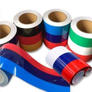 (케미칼멘토) 3색 국기라인 스티커  중  7.5x50cm