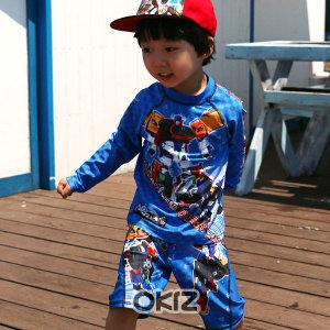I0690  카봇 상하수영복  37B  유아 아동 실내 특별
