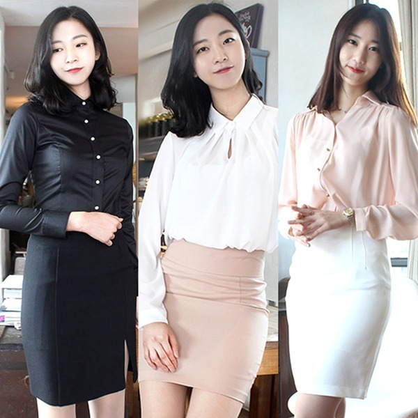 H라인스커트/정장스커트/면접스커트/여성정장/유니폼