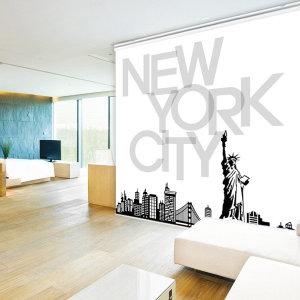 일러스트 롤스크린 뉴욕여행 일반 125cmX185cm