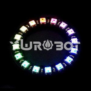 아두이노 WS2812 풀컬러 16 링 LED 모듈  ELB040055