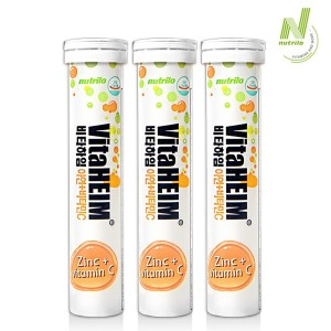 비타하임 발포 아연+비타민C 20정 3통/발포비타민